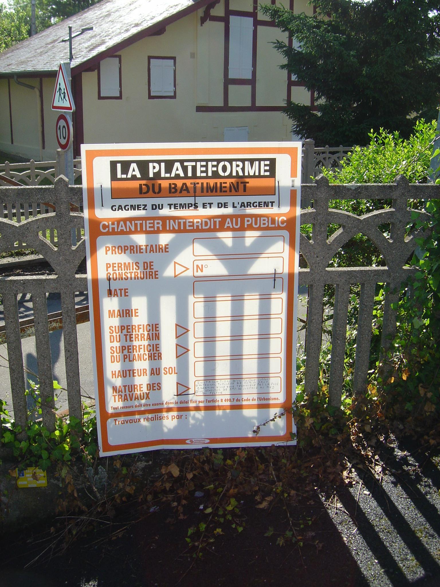 Montlu on rimard en images priartem - Panneau affichage declaration prealable ...